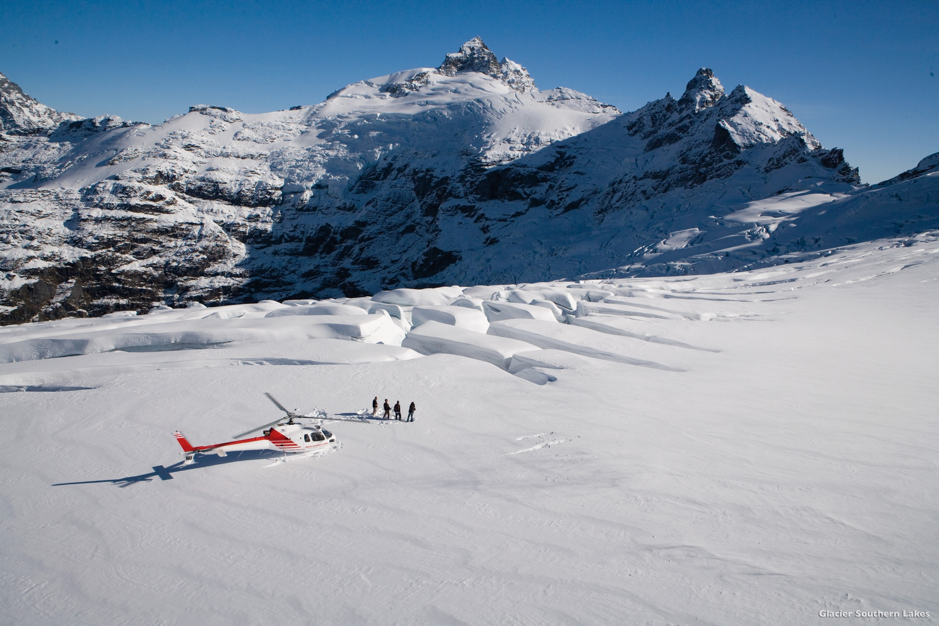 Glacier Helicopter Landing - Luxury Touring New Zealand