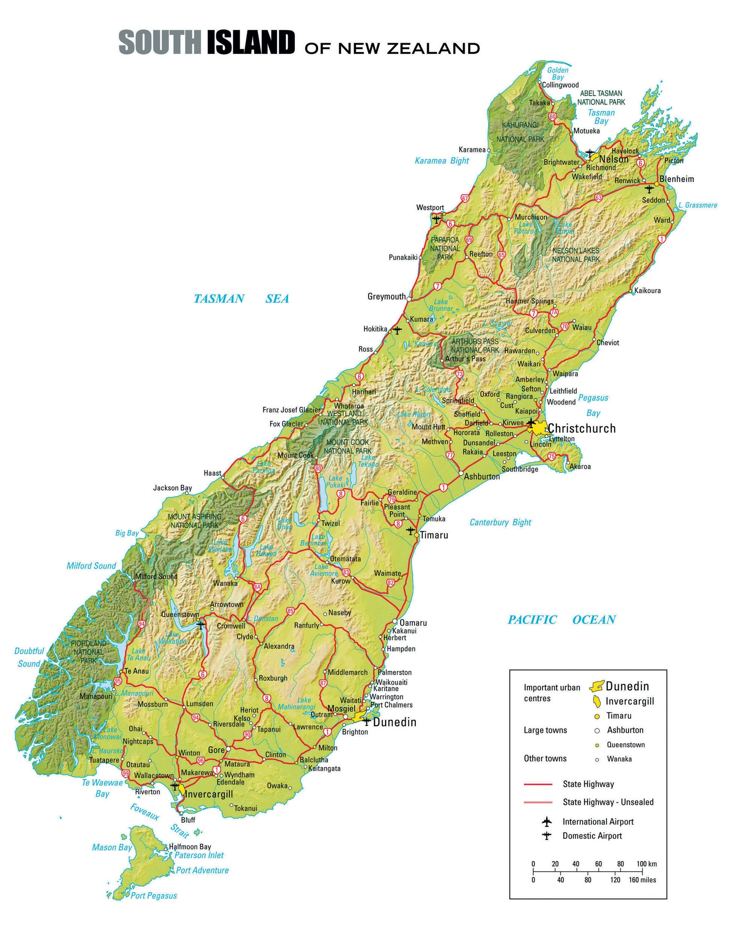 New Zealand Map South.The South Island Luxury Touring New Zealand Custom Tour
